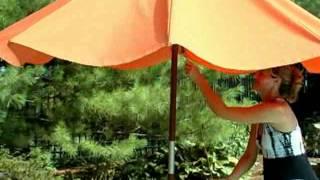 Classic 9 ft  Wood Market Umbrella - Product Review Video