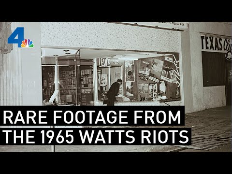 Download Rare Footage of the 1965 Watts Riots | From the Archives | NBCLA