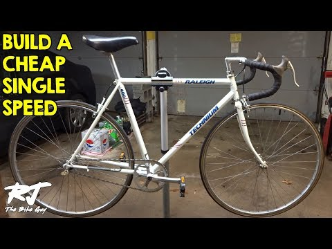 How To Build A Single Speed Bike Cheap - Vintage Road Bike C