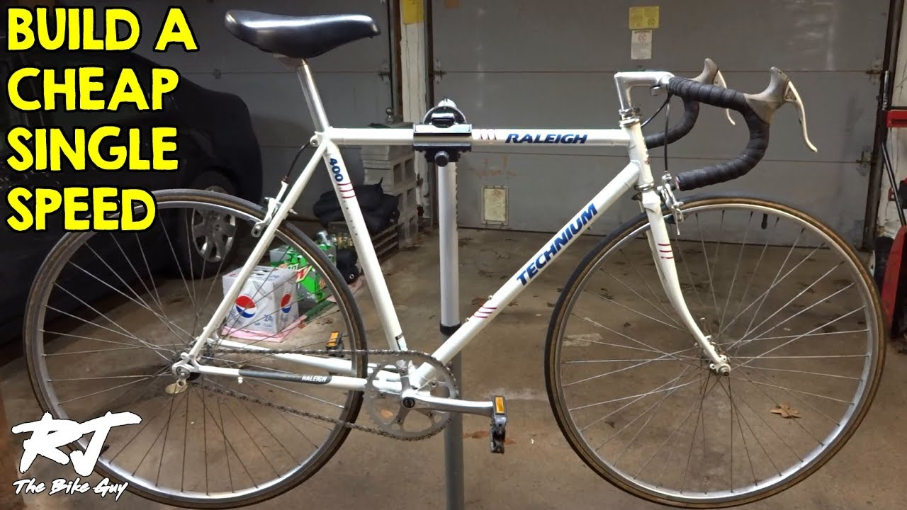 c857227542f How To Build A Single Speed Bike Cheap - Vintage Road Bike Conversion