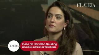 Joana Neuding fala sobre vinho e chocolate para o Live Cláudia Online