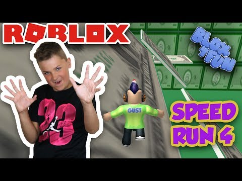 RUNNING FOR THE MONEY in ROBLOX SPEED RUN 4 | CLOSE TO COMPLETING THE GAME | CRAZY PARKOUR