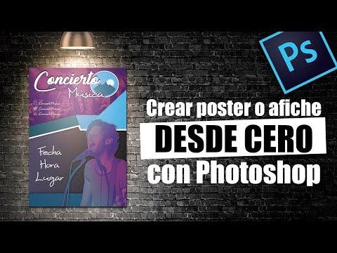 Como Crear Un Poster O Afiche Publicitario Con Photoshop | Descarga Gratis PSD Y Efecto Duotono