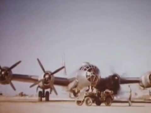 497th BG 20th AF B-29 take off at Tinian, Marianas 1945