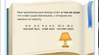 Как определить род имени прилагательного?
