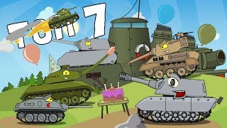 New top 7 episodes - Cartoons about tanks