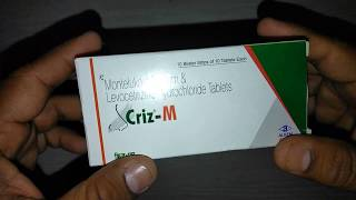 Criz M Tablets uses composition side effects precautions dosage & review in Hindi