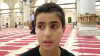 Palestinian Child Explains History of Masjid Al Aqsa