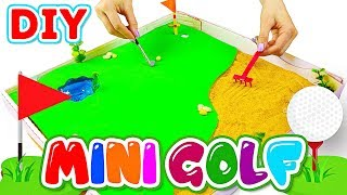 DIY Miniature Golf Garden – How To Make Cardboard Car Racing Game