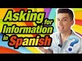 Learn how to ask questions in Spanish (#2)
