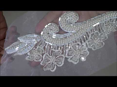 Wedding Trims,  Beaded Appliques And Snippet Pieces Galore