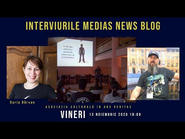 Daria Bârsan la Interviurile Medias News Blog