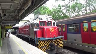 港鐵東鐵綫:柴油機車(62)駛經粉嶺站2號月台