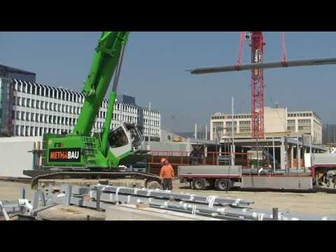 SENNEBOGEN - Structural Engineering: 673 Telescopic Crawler Crane E-Series operating in Switzerland