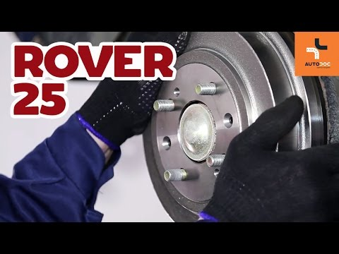 How To Replace Rear Brake Drums And Brake Pads OnROVER 25 TUTORIAL | AUTODOC