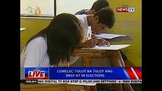 Comelec: tuloy na tuloy ang brgy at SK elections