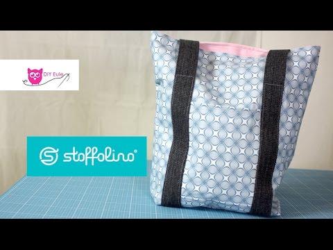 Tasche mit Gurtband nähen – DIY Eule & Stoffolino.de