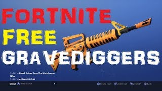 Fortnite : (Finished)Gravedigger & Jack-o- Launcher Giveaway #2(Save the world)
