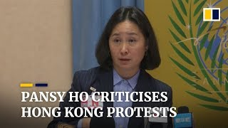 Billionaire Pansy Ho feels 'repressed' by Hong Kong protests