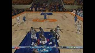 College Hoops 2K6 Xbox 360 Gameplay - Duke Loses Online