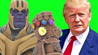 Can Thanos' INFINITY GAUNTLET Kill DONALD TRUMP in Gmod?