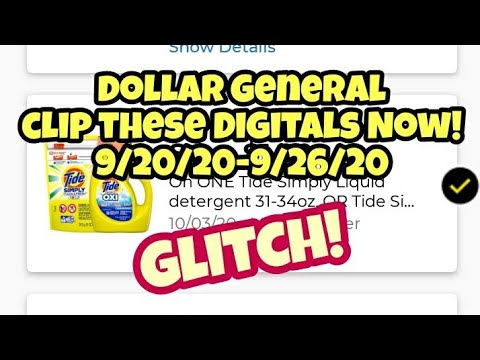 Dollar General Clip These Digitals Now 9/20/20-9/26/20!