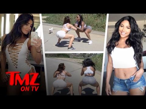 Booty- Building Models Melissa Molinaro & Candice Craig Show Us Their Squatting Skills | TMZ TV