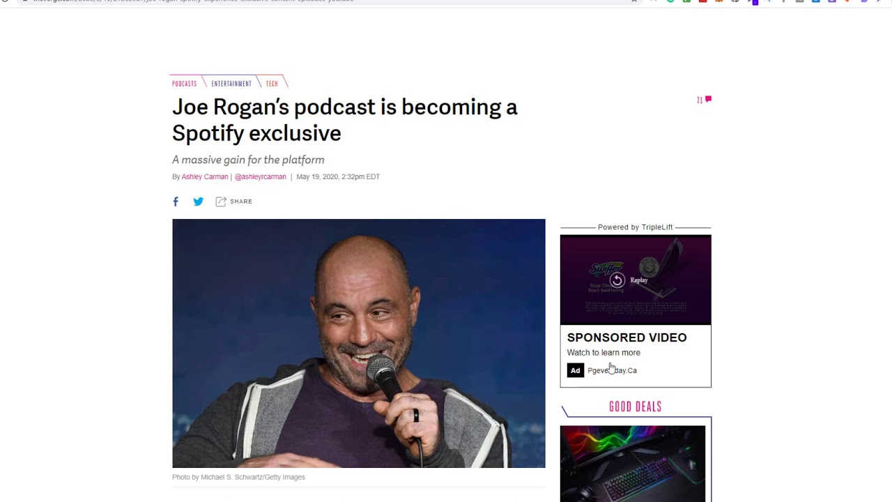 Joe Rogan's podcast is becoming a Spotify exclusive