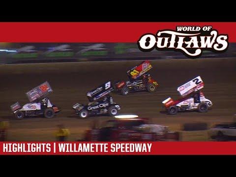 World of Outlaws Craftsman Sprint Cars Willamette Speedway September 6, 2017 | HIGHLIGHTS