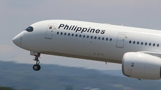 Philippine Airlines Airbus A350-941 [RP-C3501] Landing 05 | Davao Airport