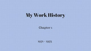 Gambar cover My Work History - Chapter 1
