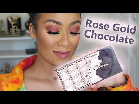 Makeup Revolution Rose Gold Chocolate Palette GRWM & Review