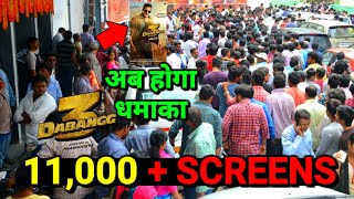Dabangg 3 On Salman Khan के Fan's जलवा दिखा   11,000 + Screens पर रिलीज होगा   Dabangg 3 धूम मचा