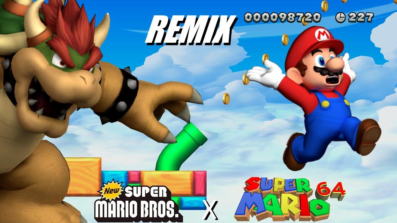new super mario bros athletic theme remix sm64 edition youtube. Black Bedroom Furniture Sets. Home Design Ideas