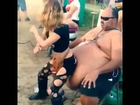 Chubby girl lap dance