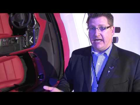 2014 Corvette Stingray at 2013 NAIAS - Craig Sass - Interior Design Manager