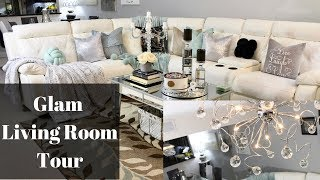 Glam Living Room Tour I Before and After Huge Transformation