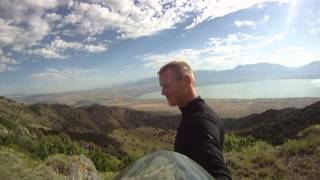 Flat Top 120 Paramotor Turns Tired To Terrific in minutes!! Powered Paragliding Up A Mountain XL!!!