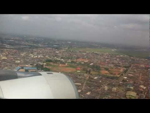 Etihad Airways  Landing at MMIA Lagos