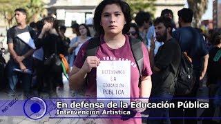 Intervención Artística en Defensa de la Educación Pública