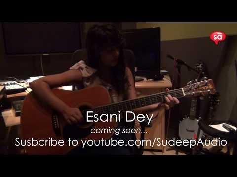 Esani Dey plays Raghupati Raghav Raja Ram on guitar    SudeepAudio.com