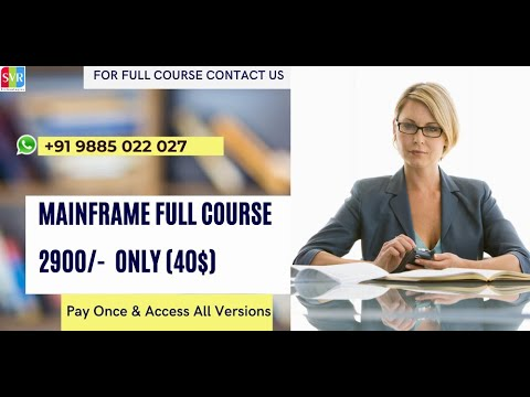 Mainframe Online Training Free Video Demo Session 1