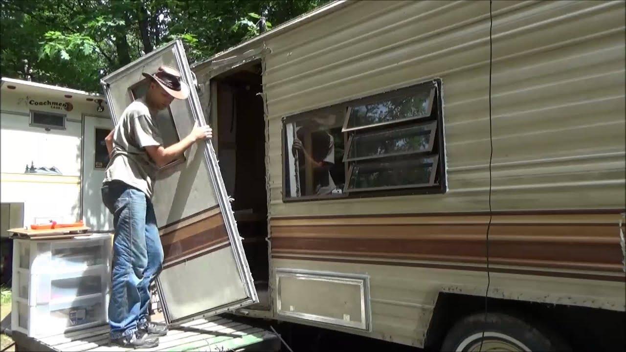 camper demolition begins for my tiny home frame youtube. Black Bedroom Furniture Sets. Home Design Ideas