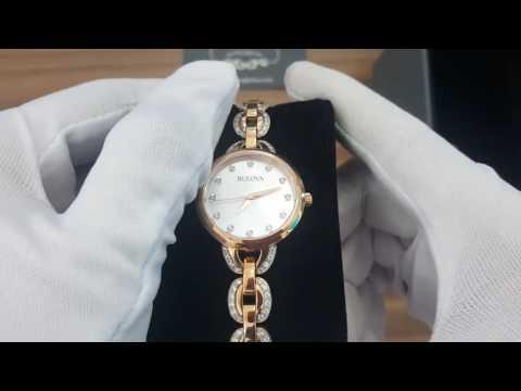 Bulova Mother Of Pearl Dial 98L207 Rose Gold – Nữ – Swarovski Crystals - Review Đồng Hồ Chính Hãng