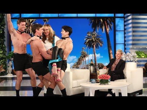 Ellen Celebrates Allison Janney's Oscar Win with Hunks