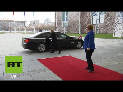 Boris Johnson trapped in car on Berlin arrival