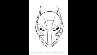 How to Draw Arkham Knight Helmet from Batman