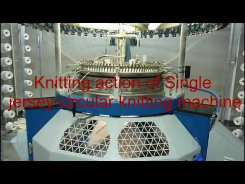 Different parts of circular knitting machine
