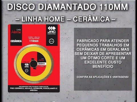 Disco Diamantado 110mm - Cerâmica - Linha Home Center