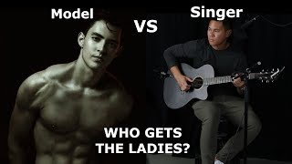 MODEL vs. SINGER! | Who Gets the Ladies? (Public Experiment)